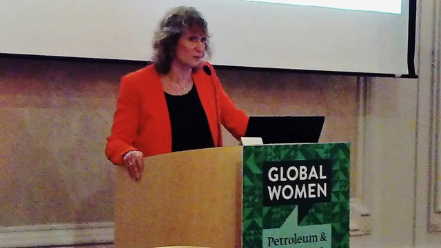 Jane Whaley speaking at the Global Women Petroleum & Energy Club event.