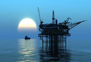 Oil Rig at late evening Copyright iurii