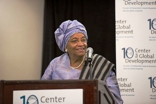 sirleaf  Center for Global Development CGD