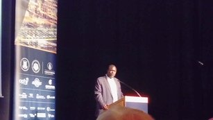 HE Ezekiel Lol Gatkuoth addresses the Africa Oil & Power Investment Forum.